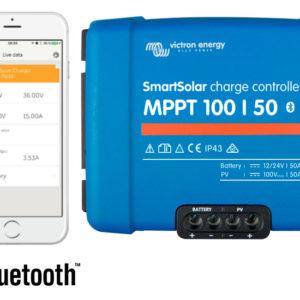 Regulador de Carga SmartSolar MPPT 100/50 (12/24V-50A) con Bluetooth