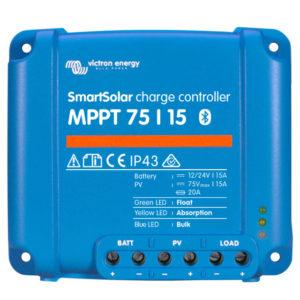 Regulador de Carga SmartSolar MPPT 75/15 (12/24V-15A) con Bluetooth
