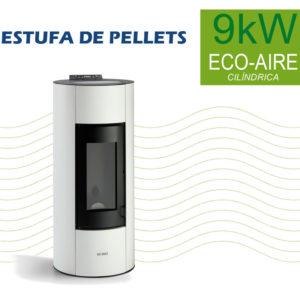 Estufa de Pellets 9kW Eco-Aire Cilíndrica