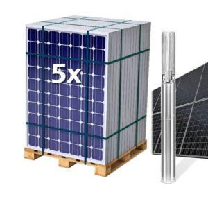 Kit Solar con Bomba Sumergible 1CV hasta 5,7 m3 y 100 m