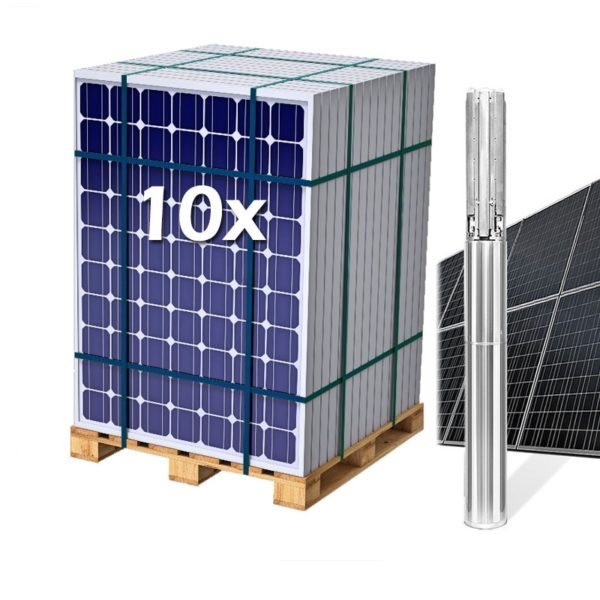 Kit Solar con Bomba Sumergible 3CV hasta 10,2 m3 y 170 m