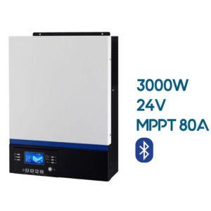 Inversor Cargador AXPERT VM III 3000W 24V con Regulador MPPT 80A 500V