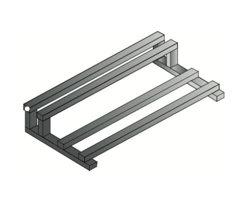 Bancada galvanizada doble altura para baterías OPZS