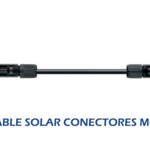 Cable Solar Fotovoltaico de 6mm2 con Conectores MC4 Macho y Hembra – 3 Metros