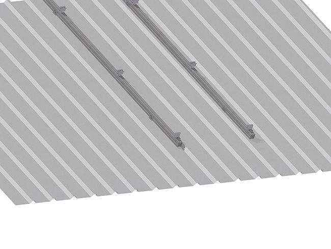 Estructura Soporte Placas Solares Para Cubierta Inclinada