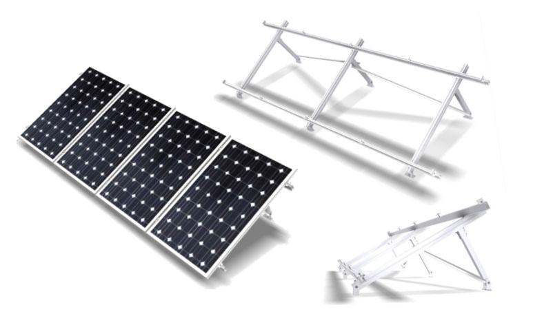 Estructura Soporte Placas Solares 72 Células para Suelo Regulable FV915XL 33f83a3f3d52