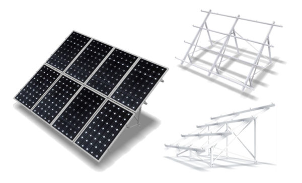 Estructura Inclinada Placas Solares 72 Células para Suelo FV925XL