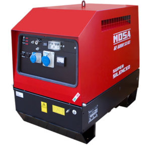 Grupo electrógeno insonorizado MOSA GE-6000 SX / GS / EAS