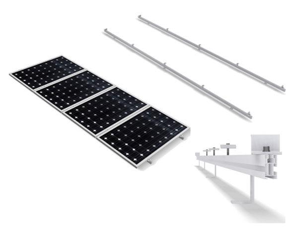 Estructura Soporte Placas Solares para Cubierta Metálica