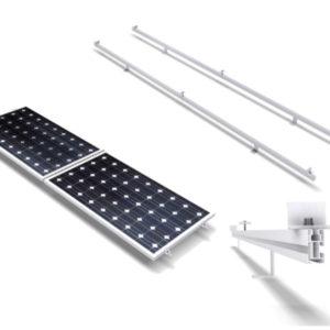 Estructura Soporte Placas Solares en Horizontal para Cubierta Metálica