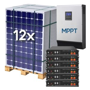 Kit Solar Fotovoltaico 18 kWh/dia con baterías de LITIO 14.4 kWh