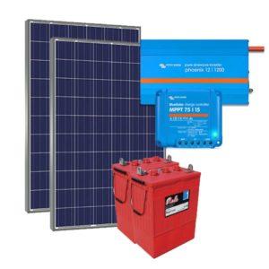 Kit Solar Fotovoltaico 2500Wh/dia Premium