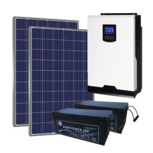 Kit Solar Fotovoltaico 3000Wh/dia AGM LITE