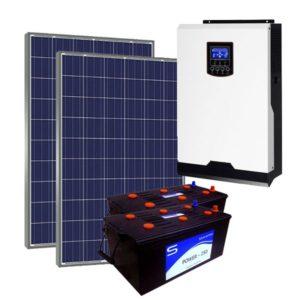 Kit Solar Fotovoltaico 3000Wh/dia LITE