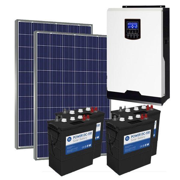 Kit Solar Fotovoltaico 3000Wh/dia Power