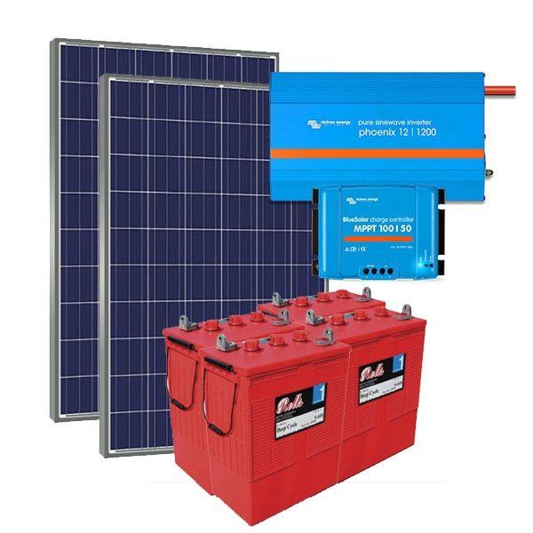 Kit Solar Fotovoltaico 3000Wh/dia Premium