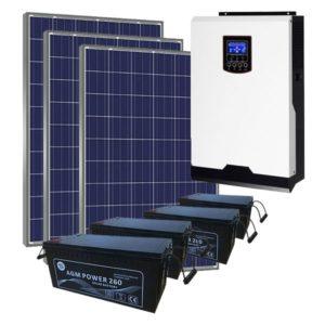 Kit Solar Fotovoltaico 4500wh/dia AGM LITE