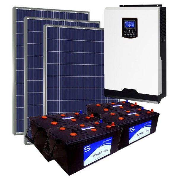 Kit Solar Fotovoltaico 4500Wh/dia LITE