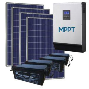 Kit Solar Fotovoltaico 5500wh/dia AGM LITE