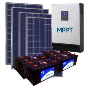 Kit Solar Fotovoltaico 5500wh/dia LITE