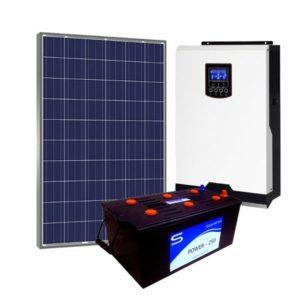 Kit Solar Fotovoltaico 700Wh/dia Basic