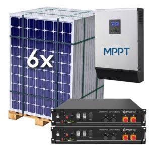 Kit Solar Fotovoltaico 8000Wh/dia con baterías de LITIO 4.8 kWh