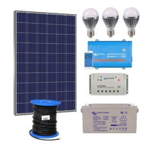 Kit Solar Iluminacion Completo