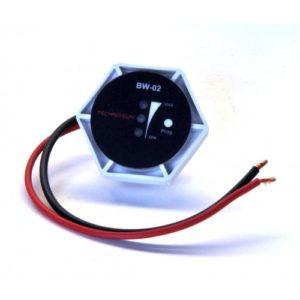 Monitor de Batería con indicador led y alarma de aviso