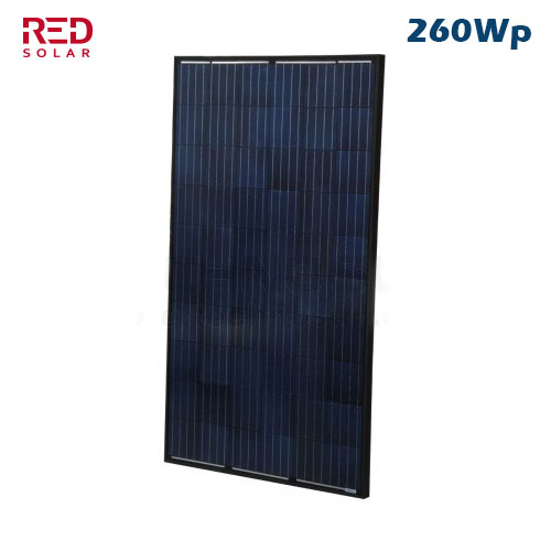 Placa Solar Red Solar Full Black Bold Series 260Wp