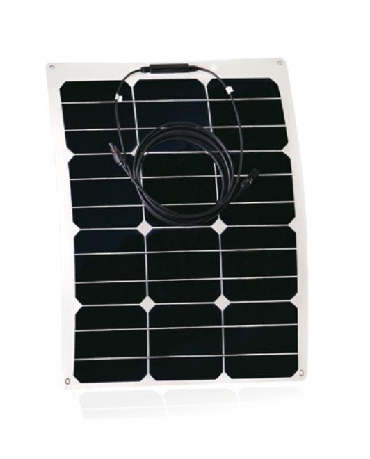 Placa Solar Flexible Curvable RED SOLAR 35W-18V