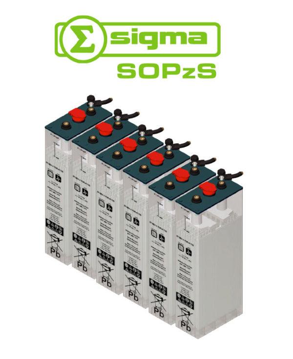 Batería Solar Sigma 5 SOPzS 860 Translúcida 860Ah (C120)