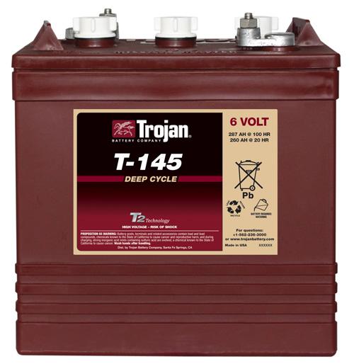 Batería Trojan T-145 287A 6V
