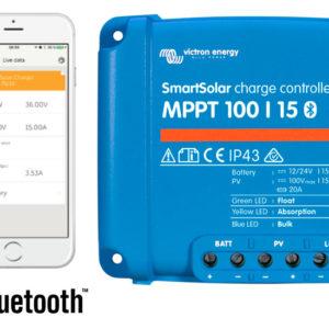 Regulador de Carga SmartSolar MPPT 100/20 (12/24V-20A) con Bluetooth